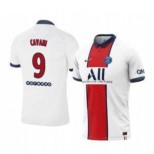 Paris Saint-Germain Edinson Cavani White Jersey